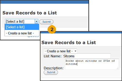 Step 2 to adding a title to My Lists